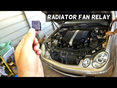 MERCEDES W211 RADIATOR FAN RELAY LOCATION REPLACEMENT - YouTube