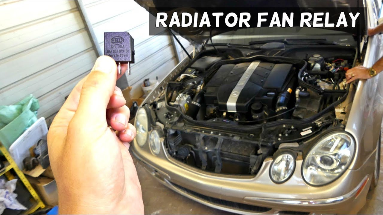 medium resolution of mercedes w211 radiator fan relay location replacement