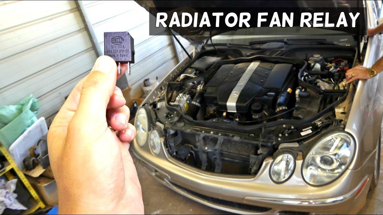 mercedes w211 radiator fan relay location replacement [ 1280 x 720 Pixel ]