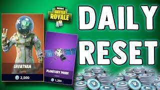 FORTNITE DAILY SKIN RESET - EPIC LEVIATHAN SKIN! Fortnite Battle Royale NOUVEAU articles quotidiens dans la boutique d'objets