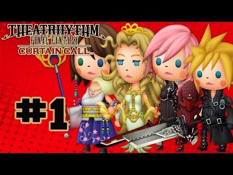Theatrhythm Final Fantasy: Curtain Call - Walkthrough Part 1 Music Stage - Final Fantasy VII