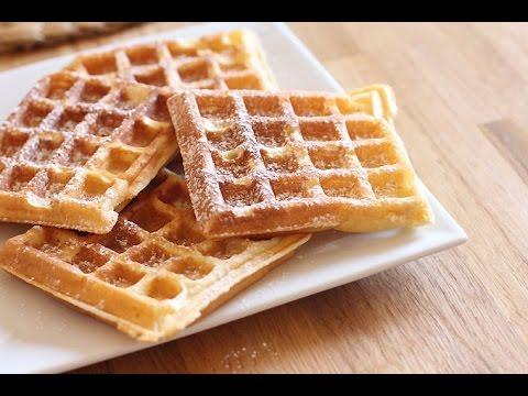 recette de gaufres fait maison easy waffles recipe youtube. Black Bedroom Furniture Sets. Home Design Ideas