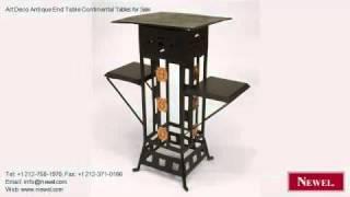 Art Deco Antique End Table Continental Tables For Sale