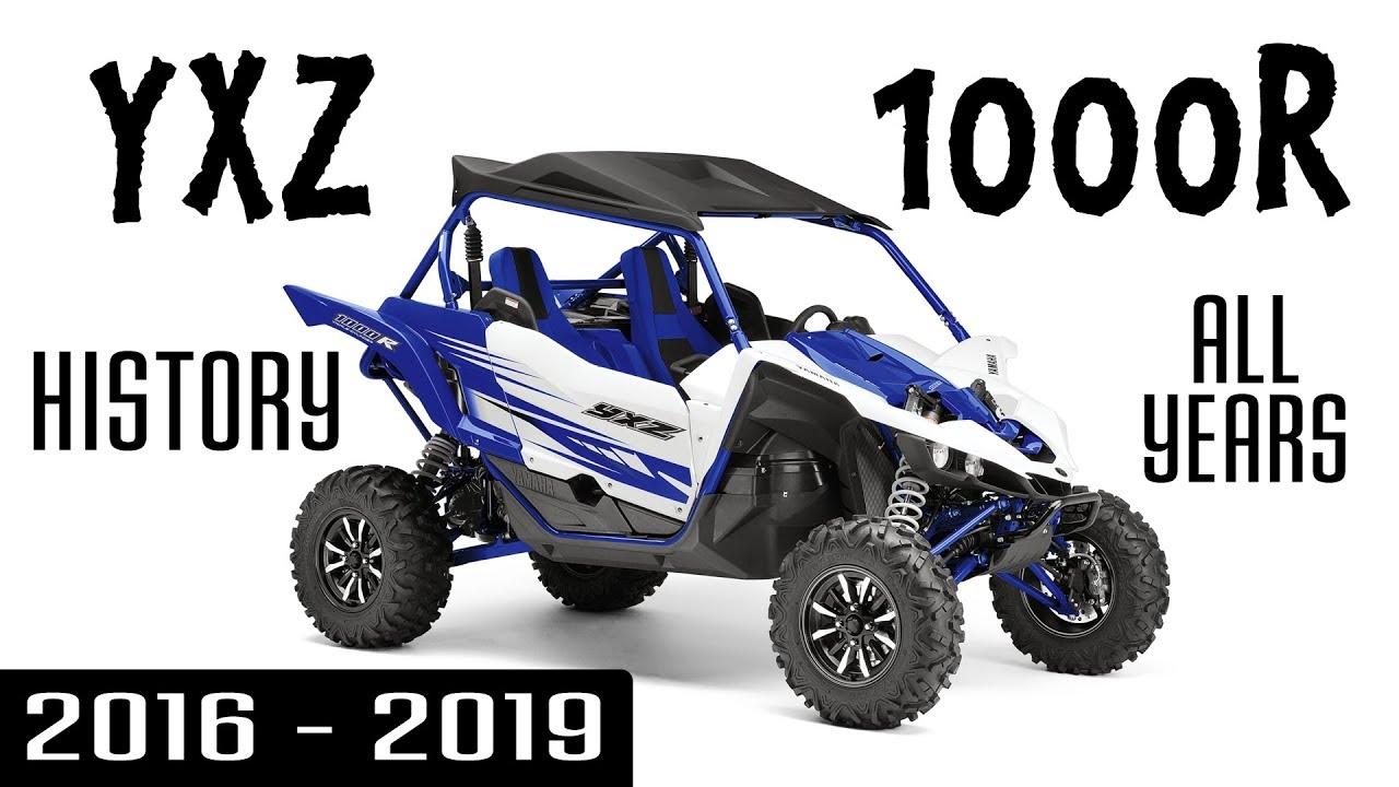 Yamaha Yxz1000r Sxs Utv Model History All Years So Far 2016 To 2019