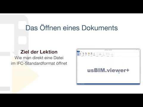 Tutorial von usBIM.viewer+ - Das Öffnen eines Dokuments - ACCA software thumbnail
