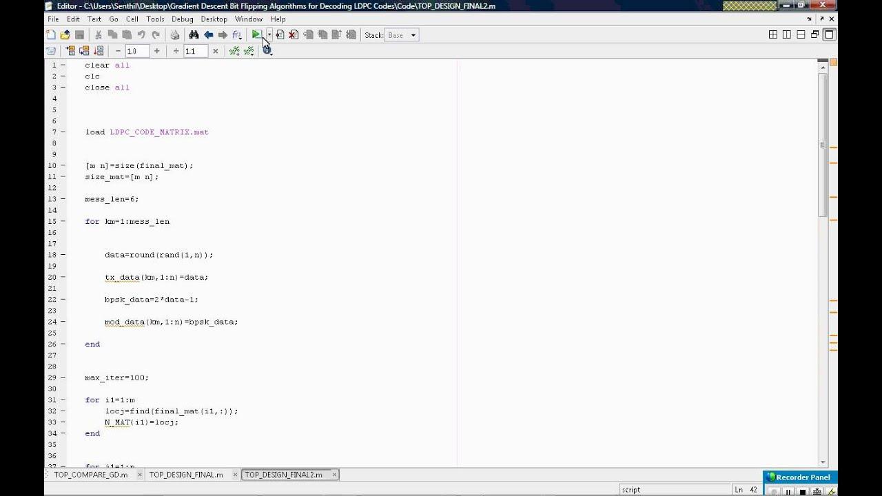 Gradient Descent Bit Flipping Algorithms for Decoding LDPC Codes wmv