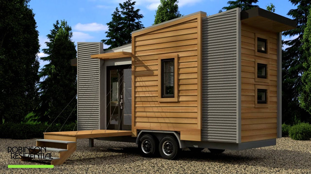 Robinson Dragon Fly Tiny House Design - YouTube