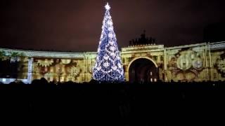 30 декабря 2016, Санкт-Петербург, Дворцовая площадь. Световое шоу  от Аэрофлот