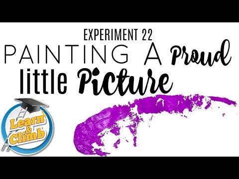 PAINTING A PURPLE PICTURE - LITMUS PAPER PAINTING! - LEARN & CLIMB EXPERIMENTS