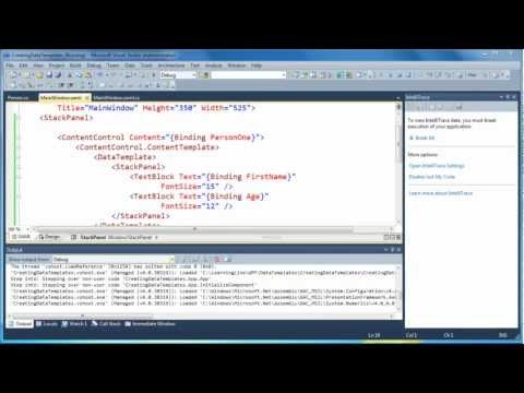 How to use DataTemplates in WPF