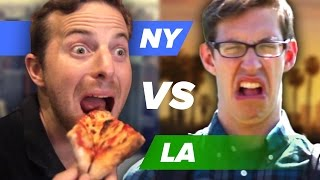 Is New York's pizza better than LA's New-York-style pizza is bad? It's The Try Guys Coast-to-coast Pizza Party Challenge Part 1 of 1! Check out more awesome ...