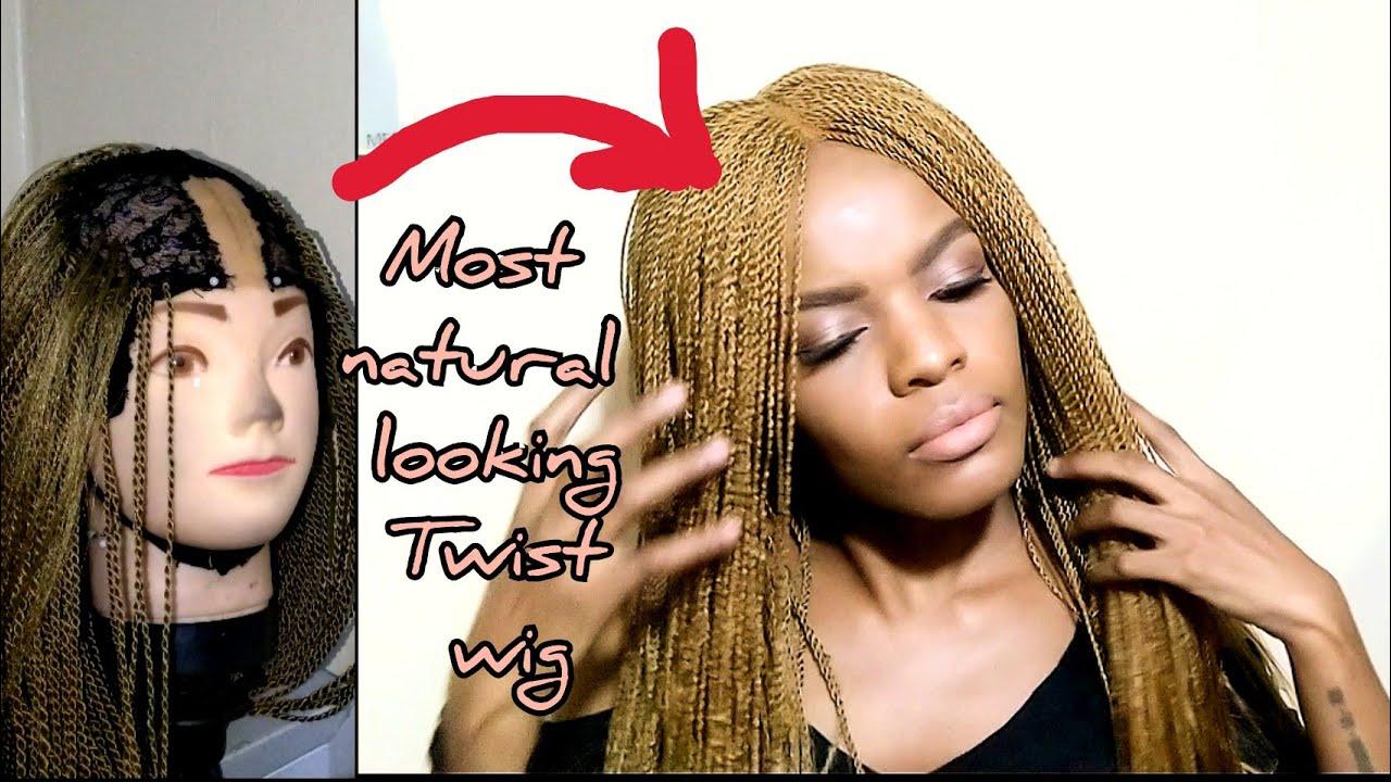 Download how to make the most realistic twist wig / braid wig / no closure / blonde twist braid wig