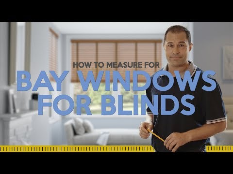 How to measure a bay window for Blinds