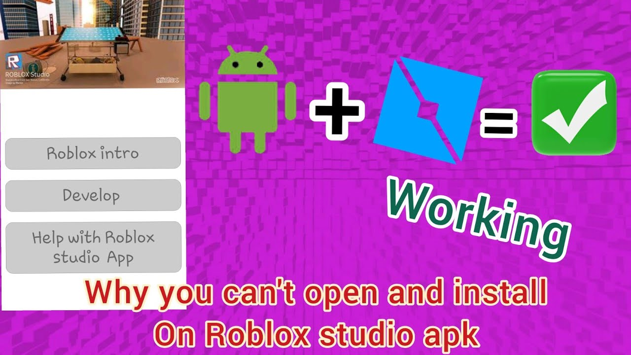 How to get Roblox studio apk on your Android? Not working