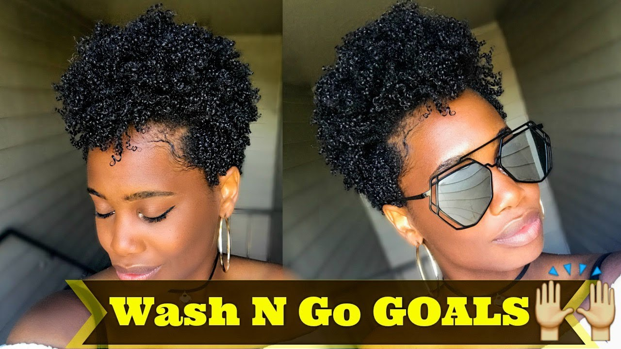 Tapered Natural Hair Styles: Super DEFINED Wash N Go On Type 4 Tapered Natural Hair