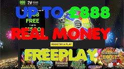 888 Casino £50 Freeplay Bonus Played On Slots £45 Win
