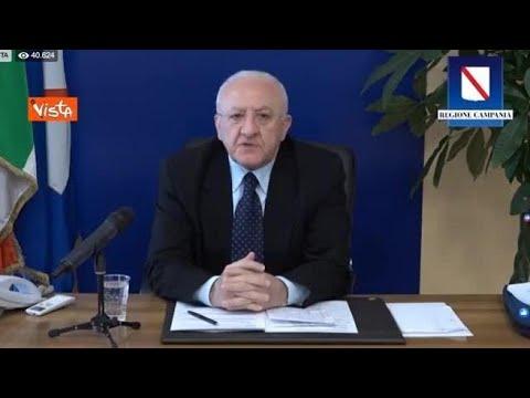 Coronavirus, De Luca: «Entro due settimane mascherine obbligatorie anche in Campania»