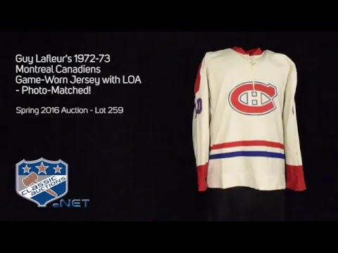 the latest 0262d 154ca Guy Lafleur's 1972-73 Montreal Canadiens Game-Worn Jersey with LOA -  Photo-Matched!