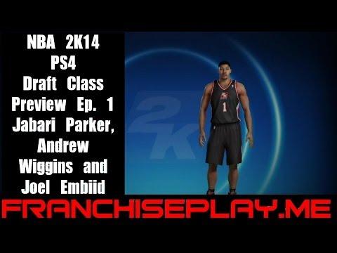 NBA2K14 Custom Draft Class Update 1: Jabari Parker, Andrew Wiggins, Joel Embiid