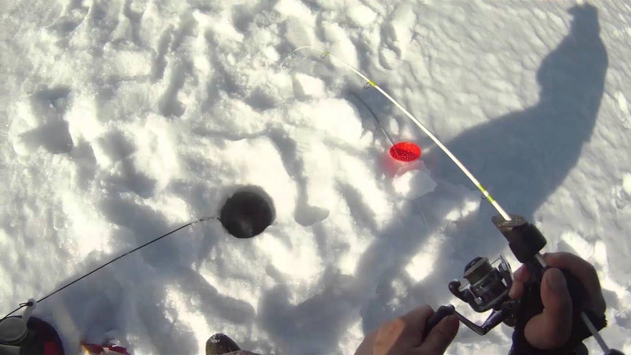 Northern minnesota ice fishing march 2014 winni day1 perch for Mn ice fishing regulations
