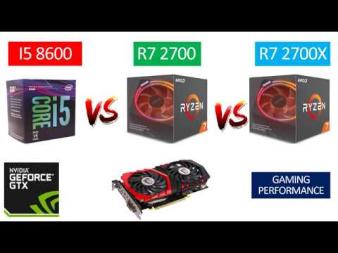 I5 8600 vs Ryzen 7 2700 vs Ryzen 7 2700X - GTX 1050 TI 4GB - Benchmarks Comparison - YouTube