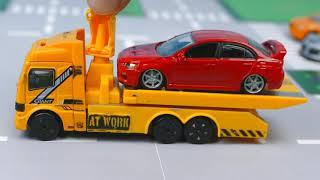 Мультик про машинки - 227 серия:  Автобус, Гоночная машина, Полиция, Авария, Эвакуатор