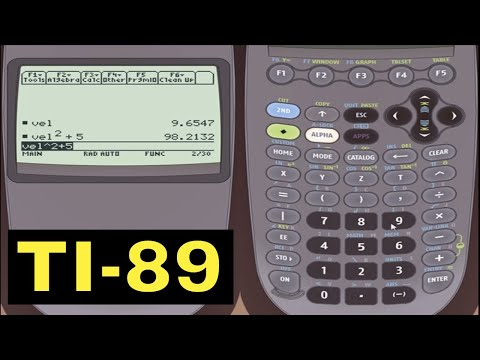 Ti-89 Calculator - 08 - Storing And Using Variables