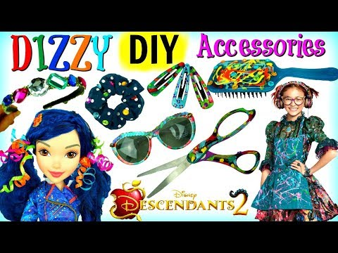 Disney DESCENDANTS 2 DIZZY Inspired DIY Accessories: Glasses Brush Hair Clips and More, EVIE Doll