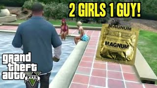 Grand Theft Auto 5 Funny Moments - 2 Girls 1 Guy - Walkthrough Gameplay (GTA 5) thumbnail