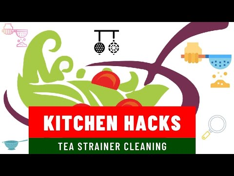 How to Clean  Stainless Steel Tea Strainer | Kitchen cleaning Tips | cleaning hacks