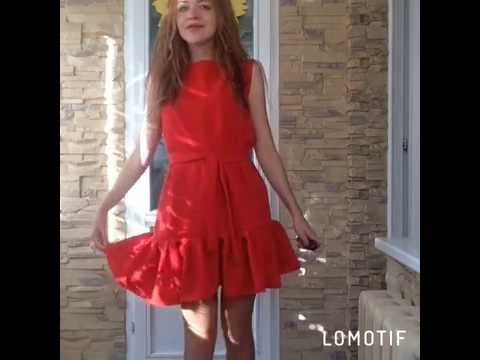 Платье с воланом. Зуева Наталья.