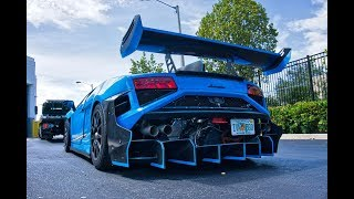 Lamborghini Gallardo Super Trofeo Race Car Street Legal BEAST Start Up & Drive at Lamborghini Miami