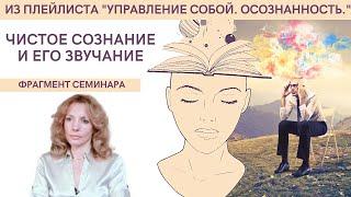 Чистое сознание и его звучание - фрагмент видеосеминара психолога Ирины Лебедь