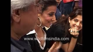 BTS Of Bollywood Film | Shahid Kapoor And Vidya Balan At Filming Of Kismat Konnection