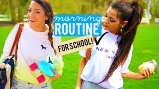 Morning Routine for School 2015 | Niki and Gabi