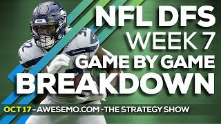 NFL DFS STRATEGY SHOW WEEK 7 TOP TARGETS 2019 FANTASY FOOTBALL DRAFTKINGS FANDUEL YAHOO FANTASYDRAFT