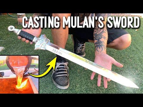 Casting Mulan's Sword From Scrap Aluminum Ingots – DIY Metal Sword Making