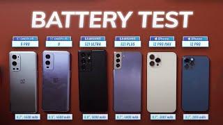 OnePlus 9 Pro vs Galaxy S21 series vs iPhone 12 BATTERY TEST
