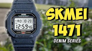 nEW SKMEI 1471 SPORT WATCH DENIM SERIES - UNBOXING REVIEW SETUP