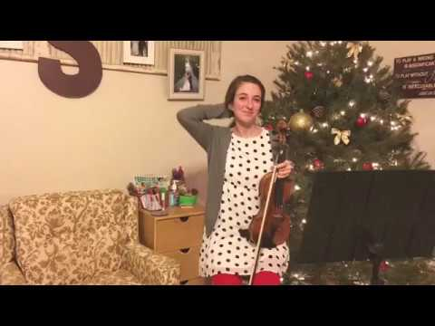 """Believe"" from Polar Express Violin   12 Days of Christmas"