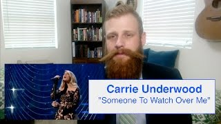 Carrie Underwood - Someone to Watch Over Me (Live) | Reaction