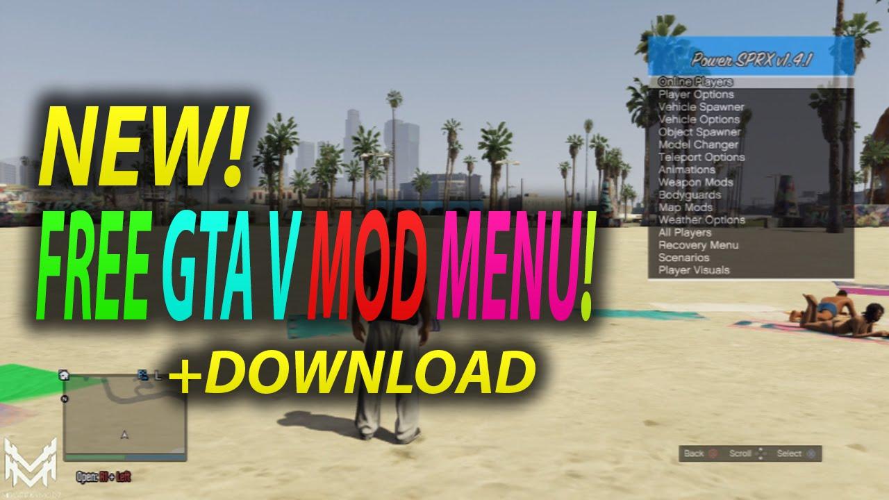 [PS3/1 26/1 27] BEST FREE GTA 5 MOD MENU - POWER SPRX GTA V MOD MENU (GTA 5  MODS)
