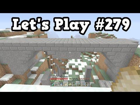 Minecraft Xbox Lets Play #279 - TU46 First Mountain Bridge