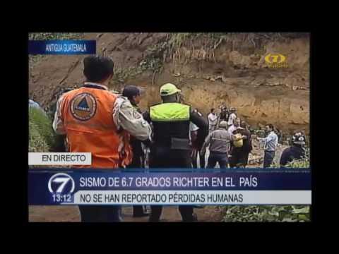 Antigua Guatemala: Reportan derrumbes y viviendas afectadas tras sismo