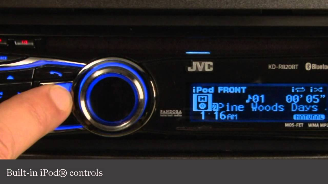 JVC KD-R820BT CD Receiver Display And Controls Demo
