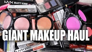 GIANT DRUGSTORE MAKEUP HAUL | NYX + Giveaway