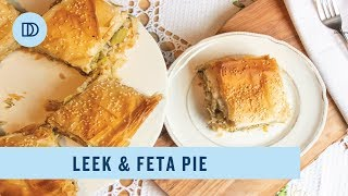 Prassopita: Greek Style Leek & Feta Cheese Pie