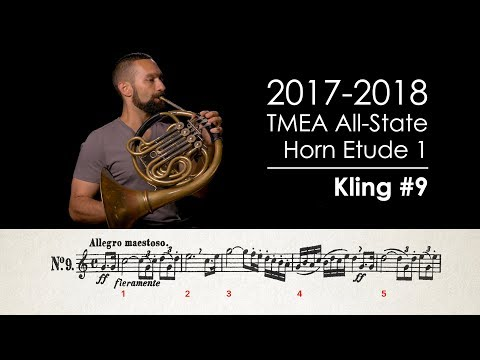 2017-2018 TMEA All State Horn Etude 1 - Kling No. 9