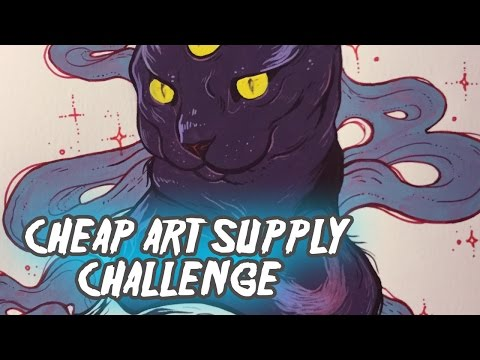 Alchemy Cat!! Gouache Painting // Cheap(ish) Art Supply Challenge #2