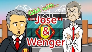 Mourinho and Wenger Q&A! (Parody Man Utd vs Arsenal 1-1 2016 Mannequin Challenge)